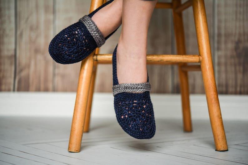 Interstice  Crochet Slippers  PATTERN 34 image 0