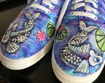 dd4f591b47 Hand painted shoes- Koi Kicks