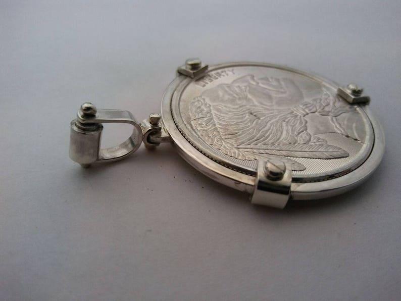 Coin 39mmX3.2mm Sterling silver Coin Bezel