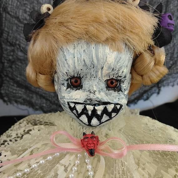 Zombie doll, horror doll, music box, creepy doll