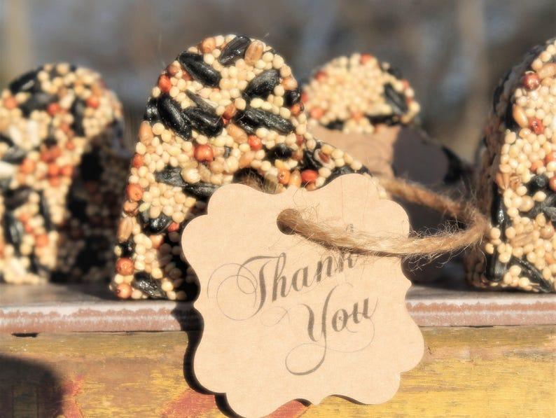 Rustic Wedding Favors Bridal Shower Wedding Favors Farmhouse Bridal shower Favors Bird Seed Heart Love Bird Ornaments