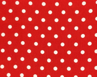Polka Dot - Red - 100% cotton print fabric - CC059