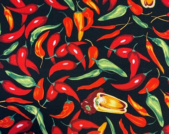 100% cotton print fabric - Chilli Peppers - 61869-101