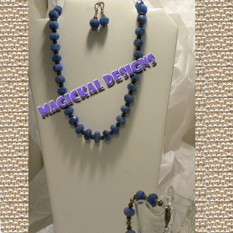 Blueberry Sky   ...Necklace Earrings & Bracelet Set image 0