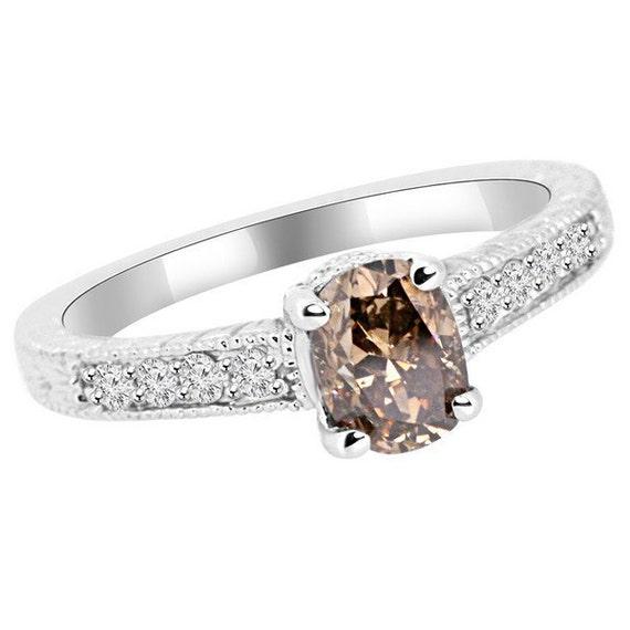 bague diamant marron
