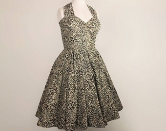 fb929f73b94 Leopard Print Swing Circle Dress 1950s 40s style Vintage Retro - Made To  Measure Plus size Animal Tiger Pinup Rockabilly Bridesmaid
