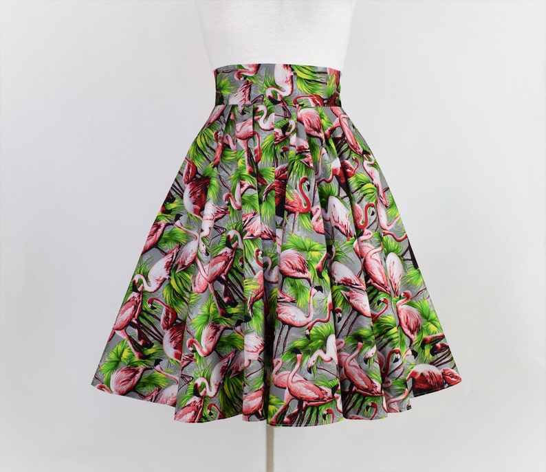 Hibiscus Circle Dress 50s Wedding