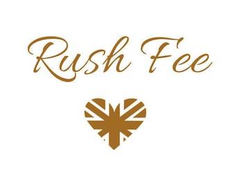 Rush Fee + International Express Postage Upgrade