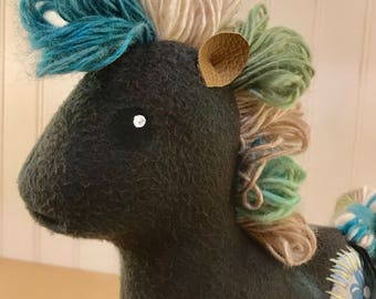 Horse of a Different Color- Black&Green