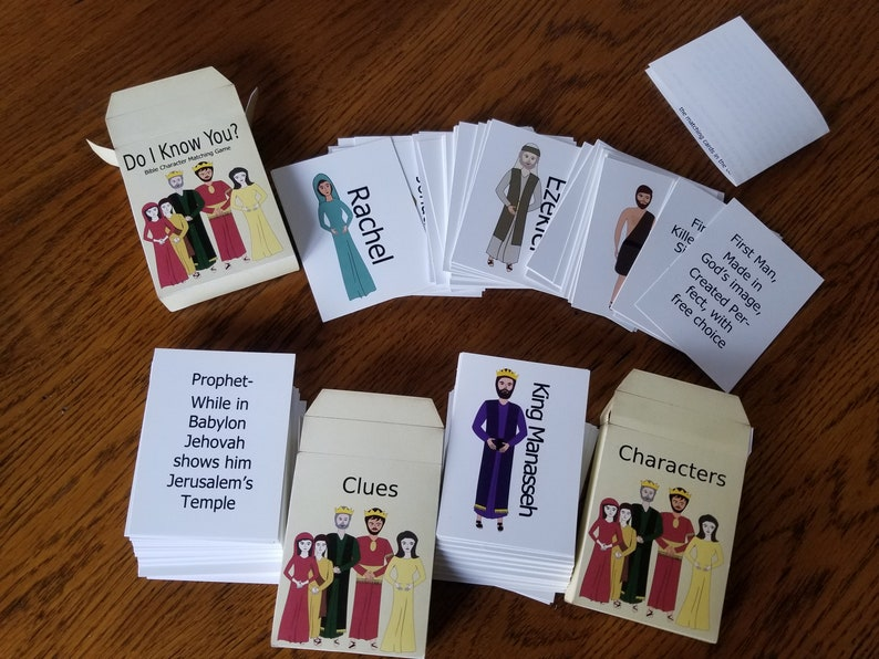 Bible Character Matching Card Game Do I Know You