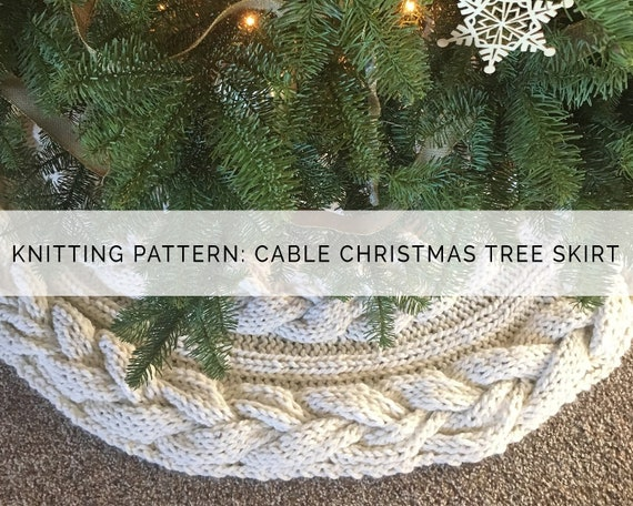 low priced ce49b 4c0d3 Items similar to Knitting Pattern - Knitted Cable Christmas ...