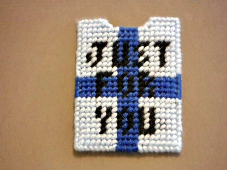 Needlepoint Canvas Plastic Canvas Just For You Gift Card Holder,Birthday Gift Card Holder,Gift Under 10,Christmas Gift Card Holder