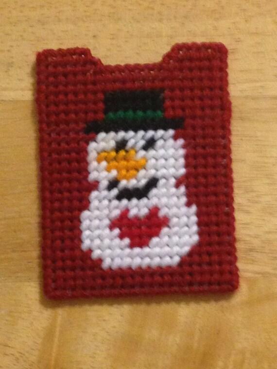 Plastic Canvas Snowman Gift Card Holder Christmas Gift Gift Etsy