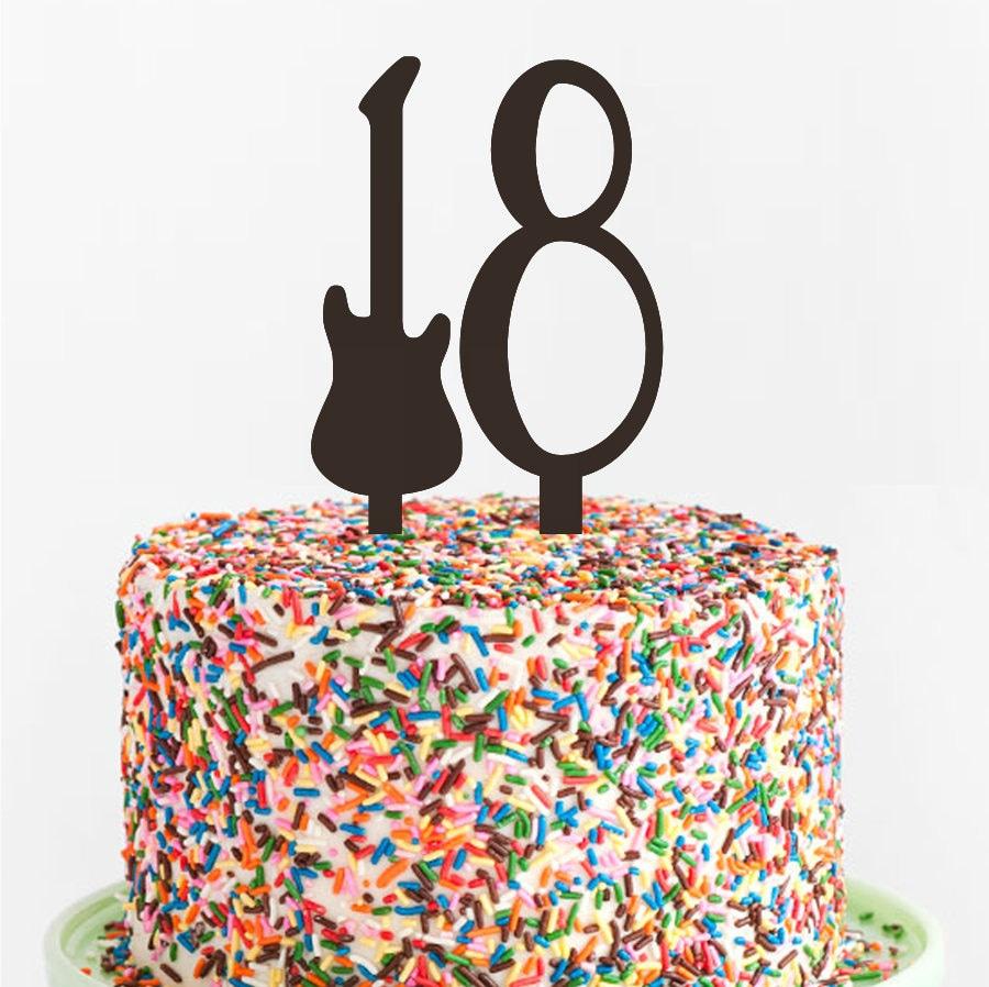 Guitar Birthday Cake Topper Custom Acrylic Cake Topper