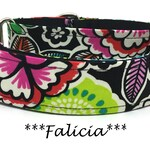 Martingale Dog Collar, Bright Floral Dog Collar, Bright Floral Martingale Dog Collar, Martingale Collar, Floral Martingale, Falicia
