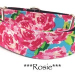 Martingale Dog Collar, Martingale Buckle Collar, Rose Dog Collar, Rose Floral Martingale Dog Collar, Rosie