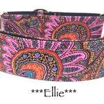 Martingale Dog Collar, Pink Floral Dog Collar, Pink Floral Martingale Dog Collar, Pink Paisley Martingale Collar, Paisley Martingale, Ellie