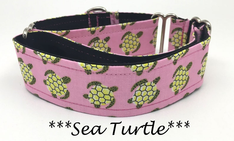 Sea Turtle Martingale Dog Collar Turtle Dog Collar image 0