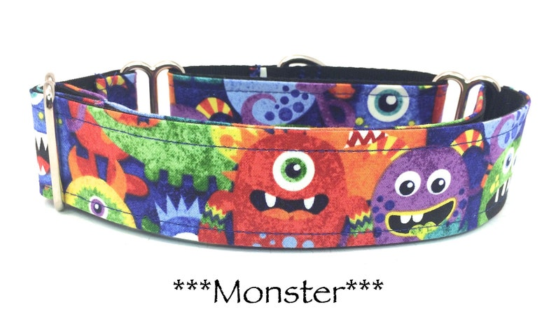 Monster Martingale Dog Collar Monster Dog Collar Martingale image 0