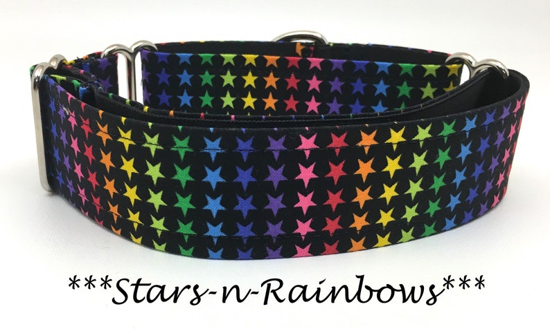 Star Martingale Dog Collar Rainbow Dog Collar Rainbow image 0