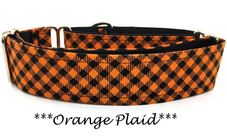 Martingale Dog Collar Halloween Dog Collar Orange Halloween image 0