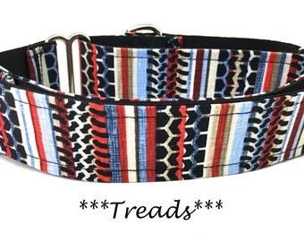 Stripe Martingale Dog Collar, Stripe Dog Collar, Striped Buckle Dog Collar, Striped Martingale Collar, Boyish Martingale, Tire Treads