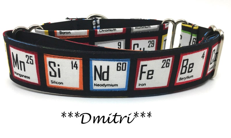 Periodic Table Martingale Dog Collar Periodic Dog Collar image 0