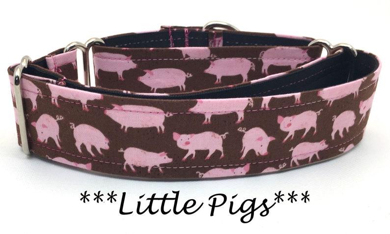 Pig Martingale Dog Collar Pig Dog Collar Martingale Dog image 0