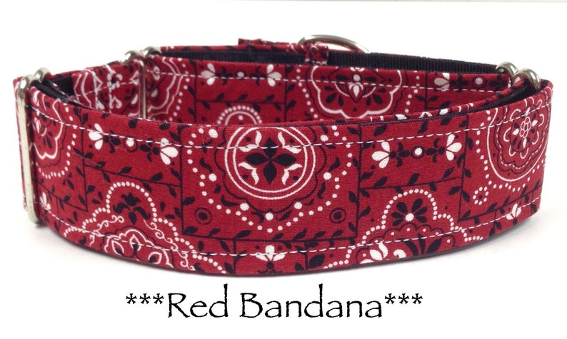 Martingale Dog Collar Red Bandana Dog Collar Red Bandana image 0