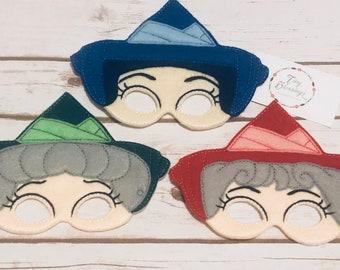 Fairy Godmothers Masks,Pretend Play Masks, Handmade Mask, Dress Up Mask, Party Favor, Halloween Mask, Christmas Stocking