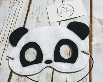 Panda Pretend Play Masks, Handmade Mask, Dress Up Mask, Party Favor, Halloween Mask, Christmas Stocking