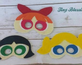 Super Girls Pretend Play Masks, Handmade Mask, Dress Up Mask, Party Favor, Halloween Mask, Birthday Favor, Gift