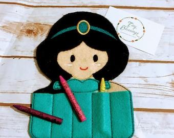 Princess Jaz inspired Crayon Holder, Handmade Crayon Carrier, Crayola, Coloring, Childrens, Creative Toy, Christmas, Art, Party Favor