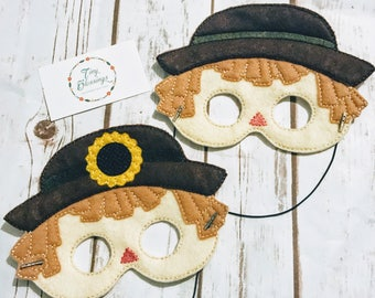 Scarecrow Pretend Play Masks, Handmade Mask, Dress Up Mask, Costume Mask,  Birthday Favor Masks, Hallowe