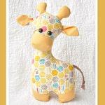 Gerald the Giraffe Sewing Pattern, Softie Pattern, Stuffed Animal, plush toy, PDF sewing pattern, giraffe toy, Children's Toy