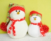 Snug Little Snowmen Sewing Pattern  | Softie Pattern | Stuffed Animal | Children's Toy
