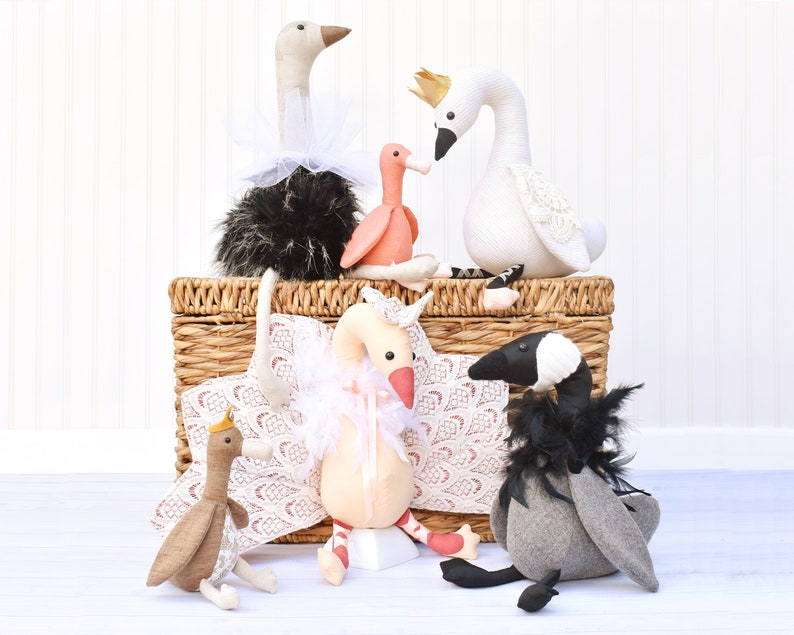 Fancy Flock eBook Swan Sewing Pattern  Ballerina Swan Soft image 0