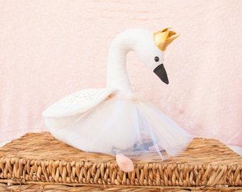 Swan stuffed animal Sewing Pattern |  Ballerina Swan | Boho soft toy Pattern | Ostrich Goose Peacock Bird | Sewing Patterns for Girls | baby