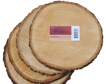 Natural Basswood Round (4 pack ) Unsanded