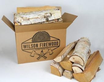 XL Split White Birch Logs for Firewood