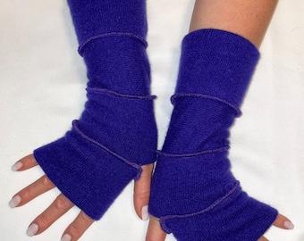 Hand warmer, arm warmer, typing gloves, cashmere gloves, hand made gloves