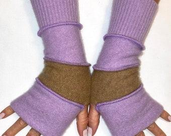 Lavender hand gloves