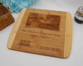Personalized Bamboo Cutting Board, Custom Engraved Bamboo Cutting Board