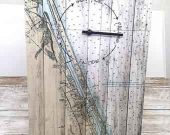 Daytona Beach Coast Tide Clock Nautical Wall Clock Nautical Gift Nautical Decor Coastal Gift Coastal
