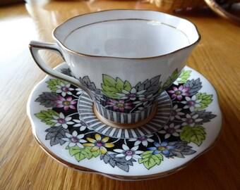 Vintage Rosina Tea Cup Saucer Circa 1950s