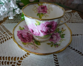 Royal Albert Bone China Teacup and Saucer American Beauty Countess Shape