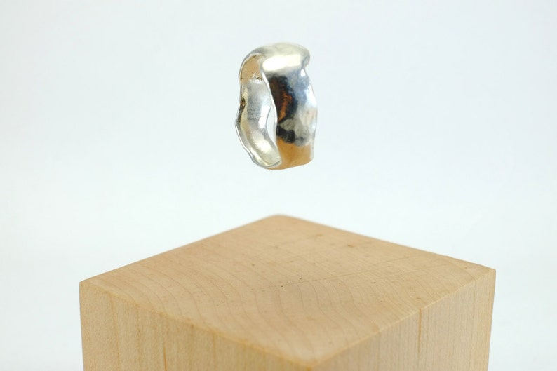 Cast Pure Silver Ring image 0