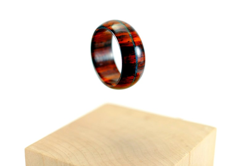 Cocobolo and lapis lazuli wooden ring image 0