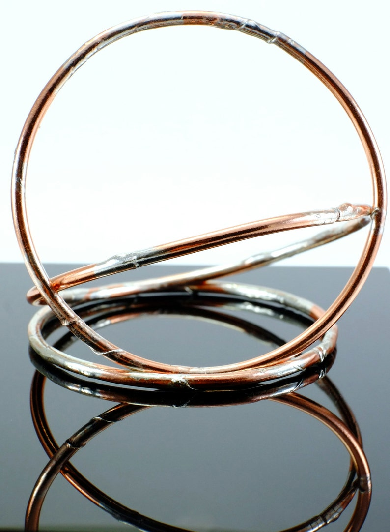 Copper and Silver Jangly Bangles  Buy Two Get One FREE image 0