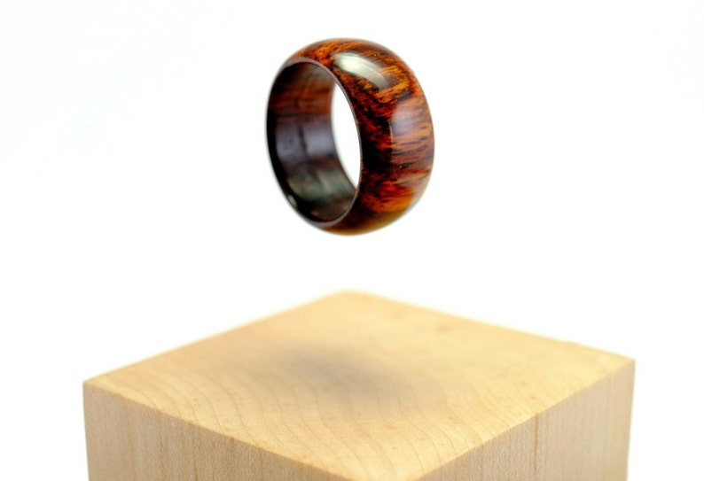 Simple cocobolo wooden ring image 1
